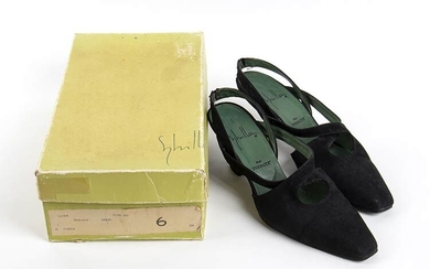 SYBILLA POR FARRUTX SUEDE SHOES Early 90s Black suede shoes,...