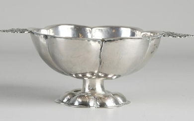 Silver brandy bowl, 833/000, small lobed model with