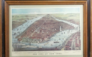 The City of New York, Currier & Ives Reproduced