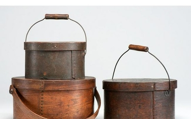Three Handled Bentwood Pantry Boxes
