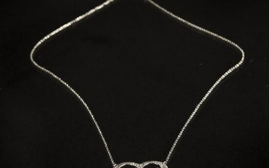 Tiffany & Co. , Chain with double heart pendant