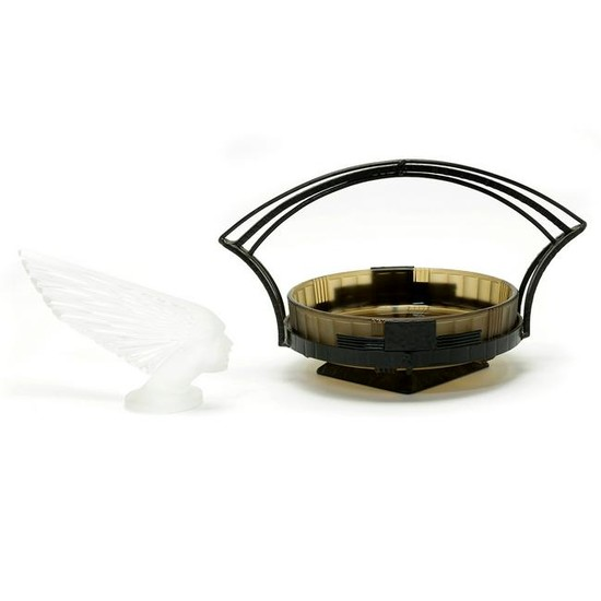Two Art Deco Style Items, Lalique 'Victoire' Hood