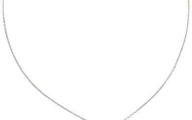 18 kt. White gold - Necklace with pendant - 0.05 ct Diamond