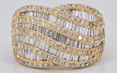18 kt. Yellow gold - Ring - 5.37 ct Diamond