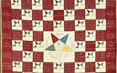 1922 Eastern Star Signature Quilt