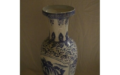 19th Century Chinese Blue and White Vase