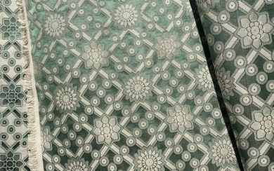 600 x 130 cm Precious magnificent double-sided damask fabric from San Leucio - Cotton, Silk - recently made