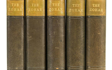 Soncino Press.- Zohar (The), 5 vol., number 15 of 48 copies, Soncino Press, 1931-34.