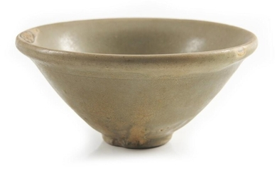 A CHINESE YAOZHOU CELADON CONICAL TEA BOWL NORTHERN SONG DYNASTY (960-1127) The De Voogd Collection