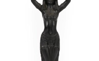 A Cast Iron Figural Stand, early 20th century, as an...