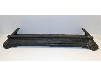 A Coalbrookdale style fretwork cast iron fire surround 46in ...