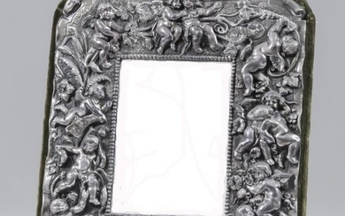 """A Continental """"Sterling"""" Silver Framed Rectangular Dressing Table Mirror,..."""