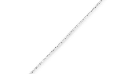 A DIAMOND LINE BRACELET comprising a single row of