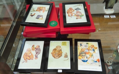 A GROUP OF SIX FRAMED LAWSON WOOD PRINTS, RETAILED BY FABRILE, WITH ORIGINAL BOXES, LEONARD JOEL LOCAL DELIVERY SIZE: SMALL
