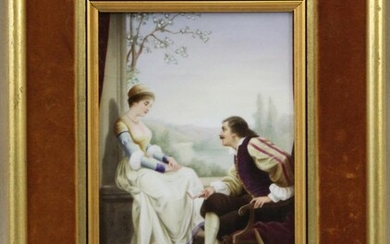 A Hand Painted French Porcelain Plaque