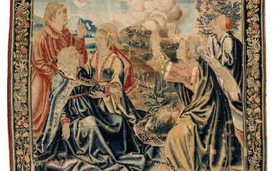 A LATE GOTHIC FLEMISH TAPESTRY, BRUGES, EARLY 16TH CENTURY