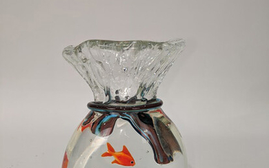 A Murano glass paperweight vase