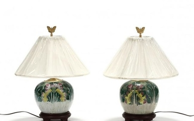 A Pair of Chinese Cabbage Leaf and Butterfly Table