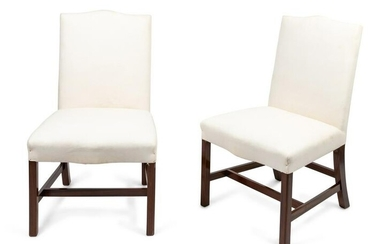 A Pair of George III Style Mahogany Side Chairs Height
