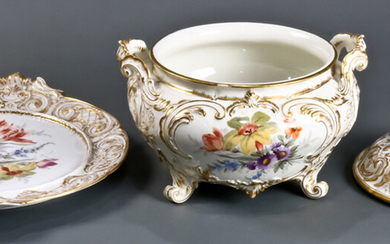 A Royal Berlin porcelain covered tureen and undertray