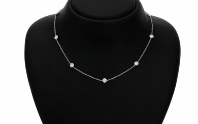 SOLD. A diamond necklace set with numerous brilliant-cut diamonds weighing a total of app. 1.76...