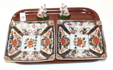 A pair of Japanese Imari porcelain shallow dishes, late 18th/early...