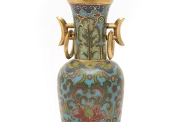 A small Chinese cloisonné vase