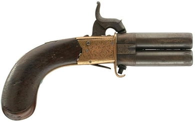 AN 80-BORE PERCUSSION TURNOVER POCKET PISTOL, 2inch