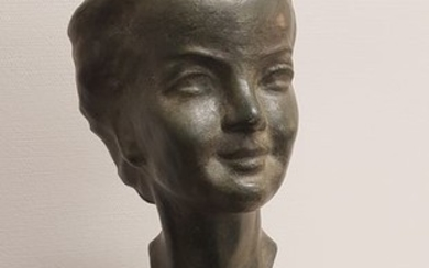 A.Trefoloni - bronze bust on marble base - Art Deco - Marble - 20th century
