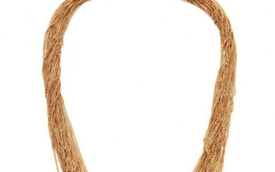 An 18k gold multi-chain necklace