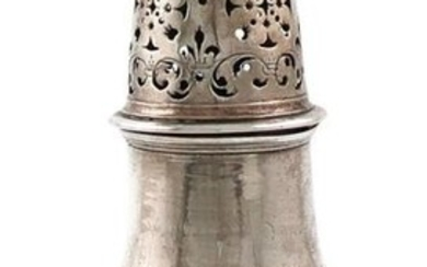 An 18th century continental silver caster, marked with...