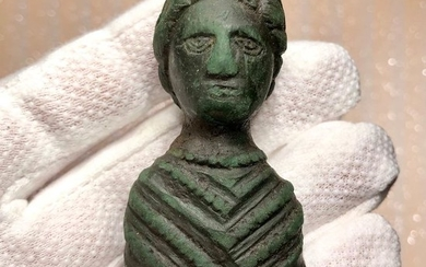 Ancient Roman Bronze Exclusive Bust of a Woman probably a member of the Severian dynasty.