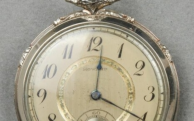 Art Deco E. Howard 14K White Gold Pocket Watch
