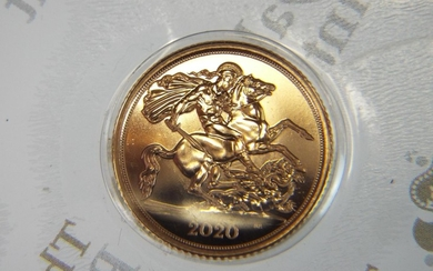 As new 2020 Royal Mint Half Sovereign in Blister pack. 4g 2...