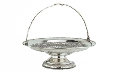Basket with handle - .900 silver - Wang Hing - China - Late 19th century