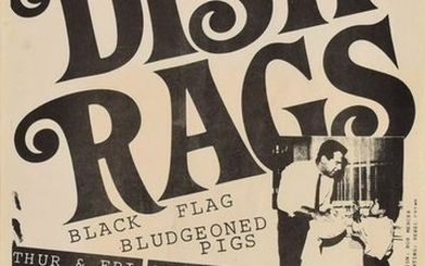 Black Flag and The Dishrags 1980 Poster