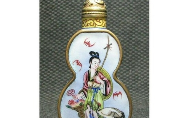 Chinese Copper Hand Painted Snuff Bottle tobaccy