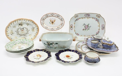 Chinese Export & English Porcelains, 18th-20th C.