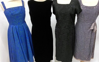 Circa 1950s and Later Ladies' Cocktail and Evening Dresses, comprising...