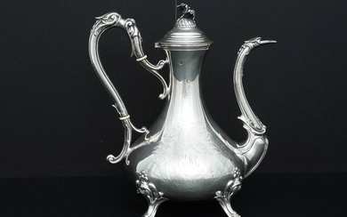 Coffee pot, Large (1) - .950 silver - Paul Massat (active 1877-1885) - France - Late 19th century