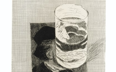 DAVID HOCKNEY (B. 1937), Postcard of Richard Wagner with a Glass of Water