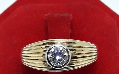 Damiani - 18 kt. White gold, Yellow gold - Solitaire Ring - 0.46 ct Diamond