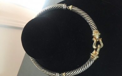 David Yurman Gold and 925 Silver cable necklace.