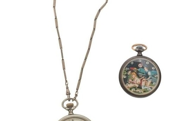 Erotic Pocket Watches Policeman and Sultan SCARCE