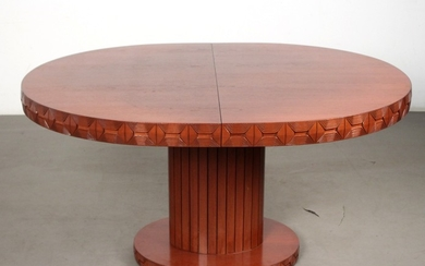 Oval, extendible dining table, 1970s