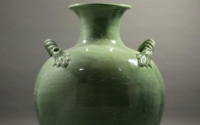Ethan Allen Made in Italy Green Glaze Pottery Vase