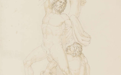 Flaxman (John, 1755-1826), William Wyon (1795-1851) and others. Original Sketches for Medals, Seals, &c., 151 original drawings, 2 vol., [probably compiled circa 1830-1850]