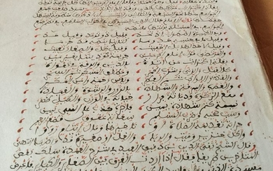 Former Moroccan scientist -Ancient Moroccan Arabic Manuscript - without (ca. 1800)