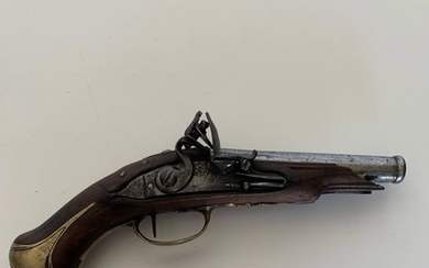 France - pistolet à silex - Single Action (SA) - Flintlock - gun
