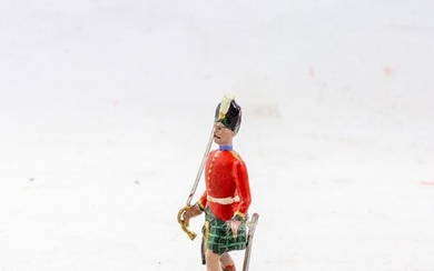 French factory CBG Paris, polychrome toy soldiers. Highlanders...